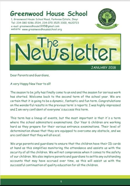jan ngw - Newsletter